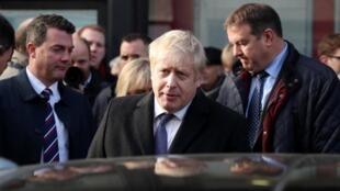 Le Premier ministre britannique Boris Johnson, le 3 décembre 2019 à Salisbury.