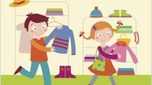 As crianças de hoje  também querem estar na moda.