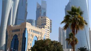 Le quartier d'affaires de Doha. Pour de nombreux Qatariens, le blocus a rendu le pays plus fort.