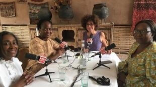 De gauche à droite: Nadia Mensah-Acogny, Bimpe Nkontchou, Emmanuelle Bastide et Aïda Diarra.