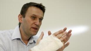 Alexeï Navalny dans son bureau à Moscou, le 15 avril 2013.