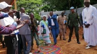 Faustin Archange Touadéra à son arrivée à Ndele (RCA), le 24 juillet 2019.