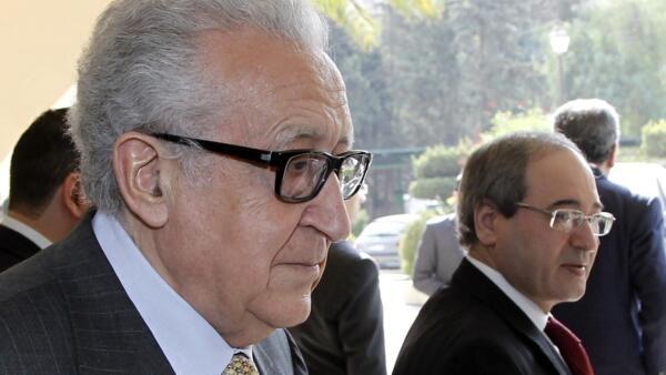 L'émissaire de l'ONU, Lakhdar Brahimi, le 30 octobre à Damas en Syrie.