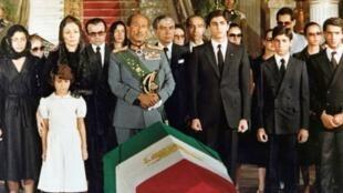 مراسم خاکسپاری محمدرضا شاه پهلوی در مسجد الرفاعی قاهره