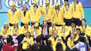 Brasil comemora classificação para jogos Olímpicos de Londres.