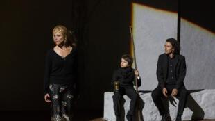 "French actress Emmanuelle Béart in ""Par les villages"" by Stanislas Nordey"