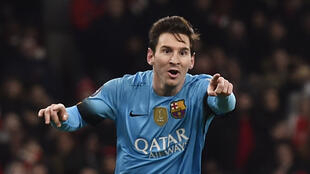 Lionel Messi scored twice for Barcelona in their victory at Arsenal.