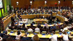 Participantes da Cúpula de Ação Climática nas Nações Unidas em Nova York. 21/09/19