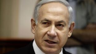 O premiê israelense Benjamin Netanyahu, durante encontro em Jerusalém nesta segunda-feira.