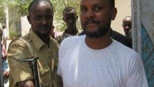 Abdifatah Jama Mire, director of Horseed FM, outside the court in Bosaso