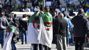 Demonstrations in Algiers, Friday 15 March 2019.
