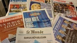 Diários franceses 14/12/2015