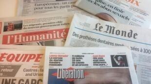 Primeiras páginas dos jornais franceses de 04 de junho de 2018