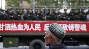 Công an vũ trang Trung Quốc tại Khu tự trị Tân Cương Xinjiang. Ảnh tư liệu chụp ngày 23/05/2014.