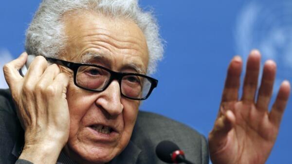 Lakhdar Brahimi, le vendredi 24 janvier 2014 à Genève, à la veille du premier face à face entre délégations syriennes.