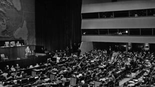 Vote de l'Assemblée générale de l'ONU sur le plan de partage de la Palestine, le 29 novembre 1947.