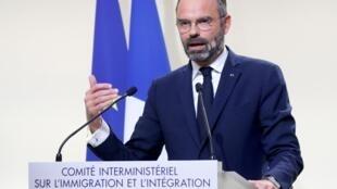 Thủ tướng Pháp Edouard Philippe trình bày các chính sách về nhập cư ngày 06/11/2019 tại Paris.
