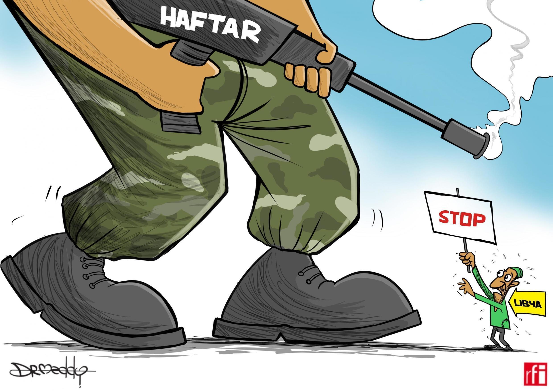 Khalifa Haftar na kokarin hambarar da halastacciyar gwamnatin Tripoli (19/04/2019).