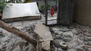 A destroyed  village in Batticaloa last month