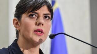 Laura Codrusta Kovesi, la cheffe du parquet anticorruption roumain, le 14 février 2018.