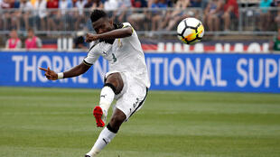 Ghana's record goalscore Asamoah Gyan played in the match against Cameroon but could not add to his tally.