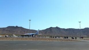Aeroporto Internacional Cesária Évora, Ilha de São Vicente. Cabo Verde. 25 de Janeiro de 2015.