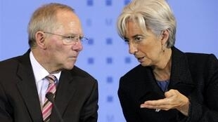 Министр финансов Германии Вольфганг Шойбле и глава МВФ Кристин Лагард.
