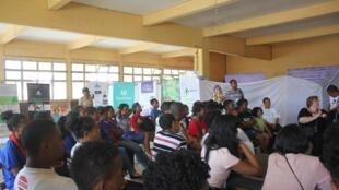 15e Conférence des Jeunes de l'Océan Indien sur le climat. Ils sont venus de toute la Grande Ile pour trouver des solutions au changement climatique.