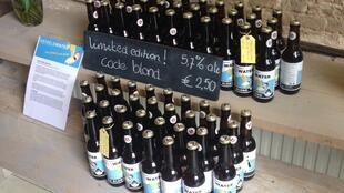 The 'Hemelswater' beer is made with rainwater in Amsterdam, Netherlands.