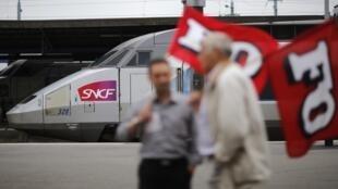 Strikers in the western city of Nantes this week