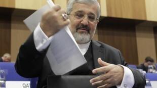 Iranian ambassador Ali Asghar Soltanieh in Vienna