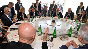 Los ministros de Interior reunidos en Ischia, Italia.