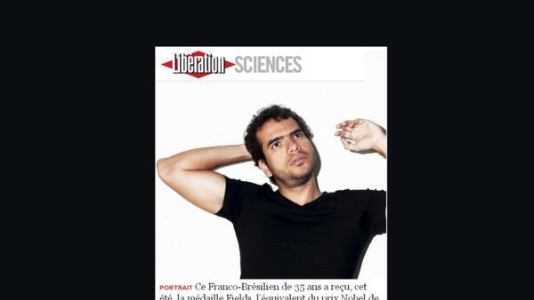 O jornal francês Libération desta quinta-feira, 30 traz um perfil do matemático franco-brasileiro Artur Ávila.