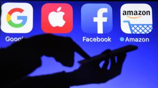 Logo của bốn tập đoàn công nghệ lớn nhất thế giới. Ảnh minh họa, ngày 28/09/2017.