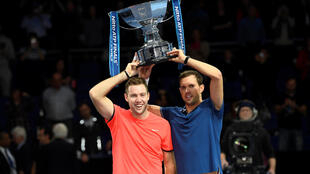 Jack Sock (left) will end his partnership with Mike Bryan despite winning three trophies with the 40-year-old American.