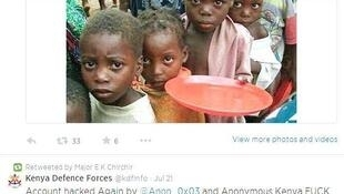 Anon_0x03 posted several tweets on Major Chirchir's account