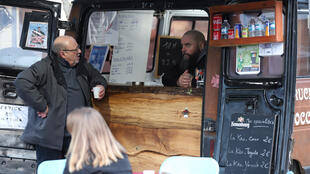 Sébastien Cherrier's mobile bar stops everyday in French villages whose local meeting-place, the bistro, the French equivalent to a pub, has shut down