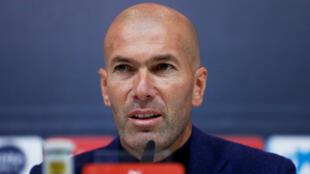 Zinedine Zidane, antigo treinador do Real Madrid.