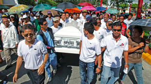 The funeral of Philippine ex-police officer Rolando Mendoza