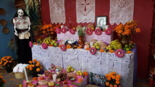 Un altar en el Museo Nacional de Culturas Populares de la Ciudad de México.