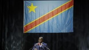 Félix Tshisekedi face à la diaspora congolaise, le 18 septembre 2019 à Bruxelles.