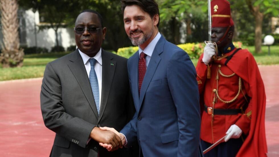 Le Premier ministre canadien Justin Trudeau (D) a rencontré le président sénégalais Macky Sall (G) ce mercredi 12 février.