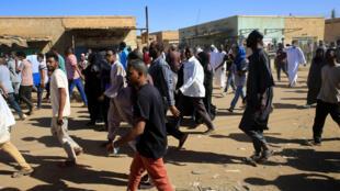 Maandamano katika mitaa ya Khartoum Januari 11, 2019.