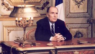 O ex-presidente francês, François Mitterrand.