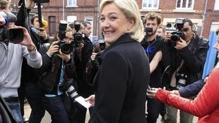 Marine Le Pen after the first round of voting