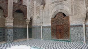 Al Attarine Madrasa in Fez, built by the Marinid Sultan Uthman II Abu Said in 1323.