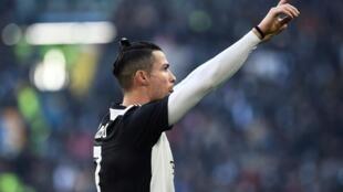 Cristiano Ronaldo (Juventus Turin) après son doublé face à la Fiorentina, le 2 février 2020.