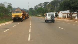 La nouvelle route qui relie le Cameroun au Congo-Brazzaville s'étend sur plus de 300 kilomètres.