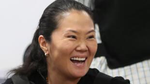 Keiko Fujimori después de recuperar la libertad, el 17 de octubre de 2018 en Lima.