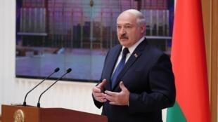 Александр Лукашенко на выступлении перед депутатами 5 декабря 2019 г.